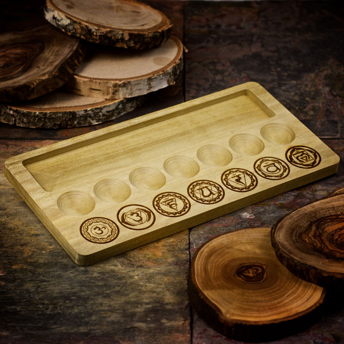 Seven Chakras Charging Tray by Healing Stones for You
