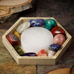 Crystal Charging Tray with Selenite Circle by Healing Stones for You