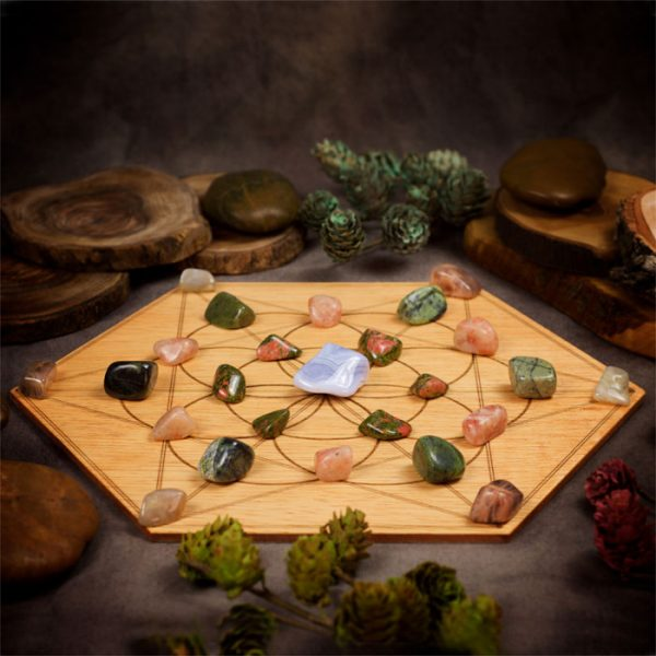Healthy Pregnancy Large Crystal Grid Set by Healing Stones for You