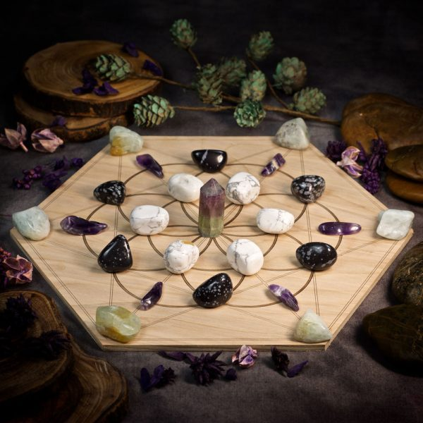 Stress Relief Large Crystal Grid Set by Healing Stones for You