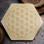 Flower of Life 6 inch Mini Grid Board by Healing Stones for You