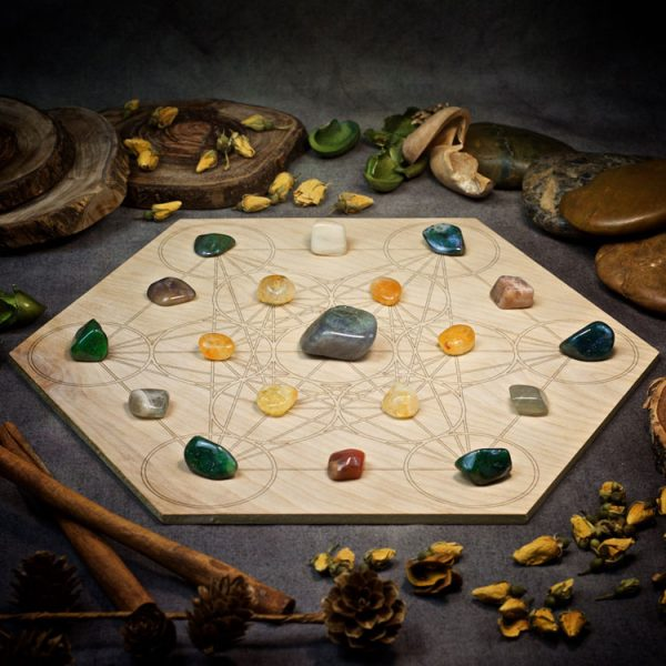 New Beginnings Large Crystal Grid Set by Healing Stones for You
