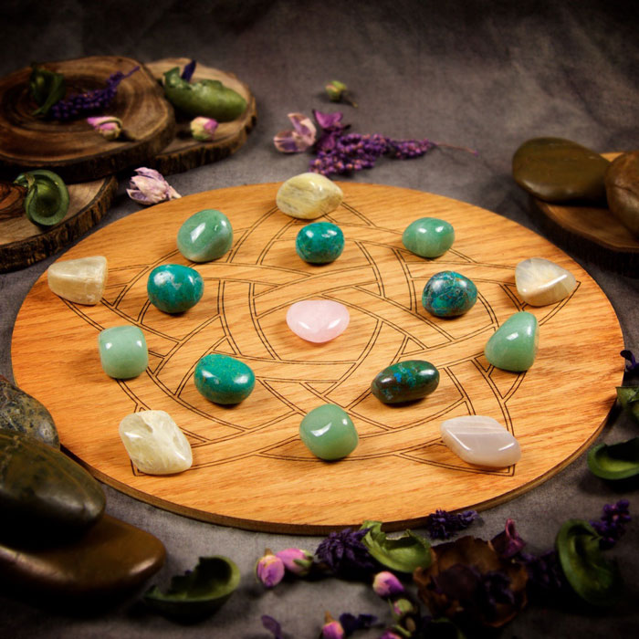 Overcome Heartache Large Crystal Grid Set by Healing Stones for You