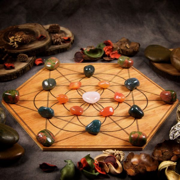 Fertility Boost Large Crystal Grid Set by Healing Stones for You