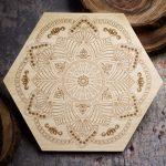 Flower Mandala 6 inch Mini Grid Board by Healing Stones for You