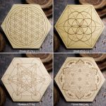 Sacred Geometry Mini Grid Boards by Healing Stones for You