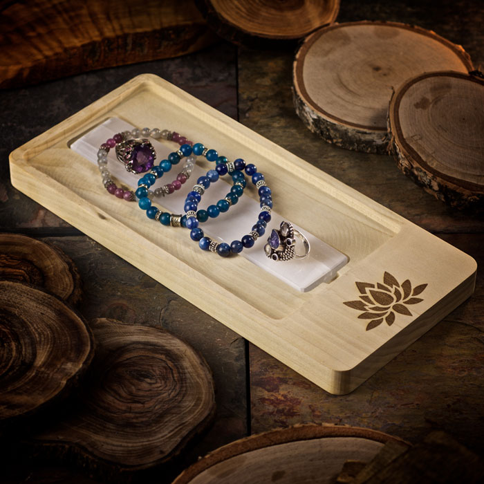 Lotus Blossom Crystal Charging Tray by Healing Stones for You