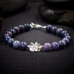 Dumortierite and Herkimer Diamond Bracelet by Healing Stones for You