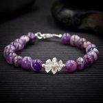 Dogtooth Amethyst and Herkimer Diamond Bracelet by Healing Stones for You
