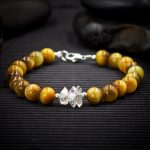 Blonde Tiger Eye and Herkimer Diamond Bracelet by Healing Stones for You