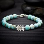 Larimar and Herkimer Diamond Bracelet by Healing Stones for You