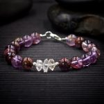 Auralite 23 and Herkimer Diamond Bracelet by Healing Stones for You