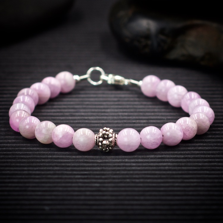 Kunzite Sterling Silver Bracelet by Healing Stones for You