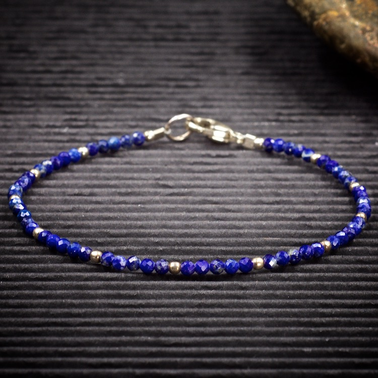 Lapis Lazuli Mini Crystal Bracelet by Healing Stones for You