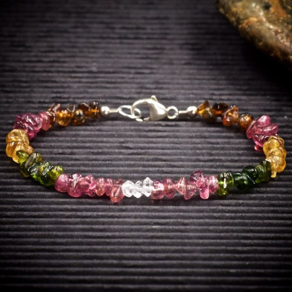 Tourmaline and Herkimer Diamond Mini Crystal Bracelet by Healing Stones for You
