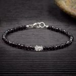 Black Spinel and Herkimer Diamond Mini Crystal Bracelet by Healing Stones for You