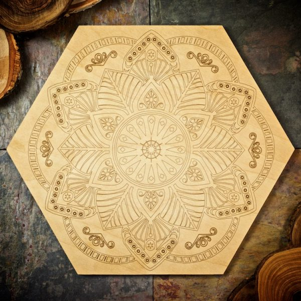 Flower Mandala Large Grid Board by Healing Stones for You