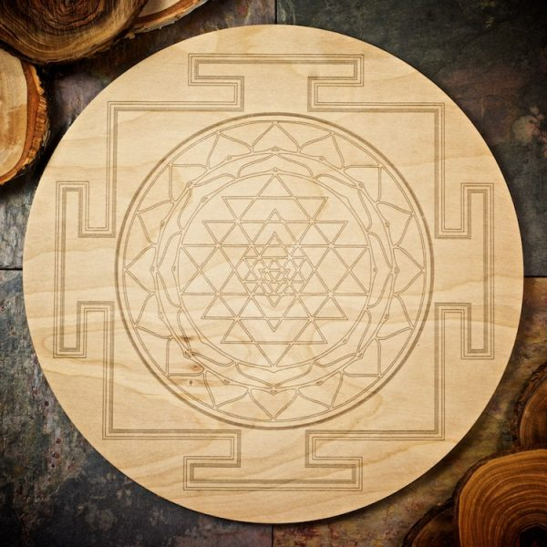 Sri Yantra Large Grid Board by Healing Stones for You