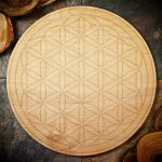 Flower of Life Large Grid Board by Healing Stones for You