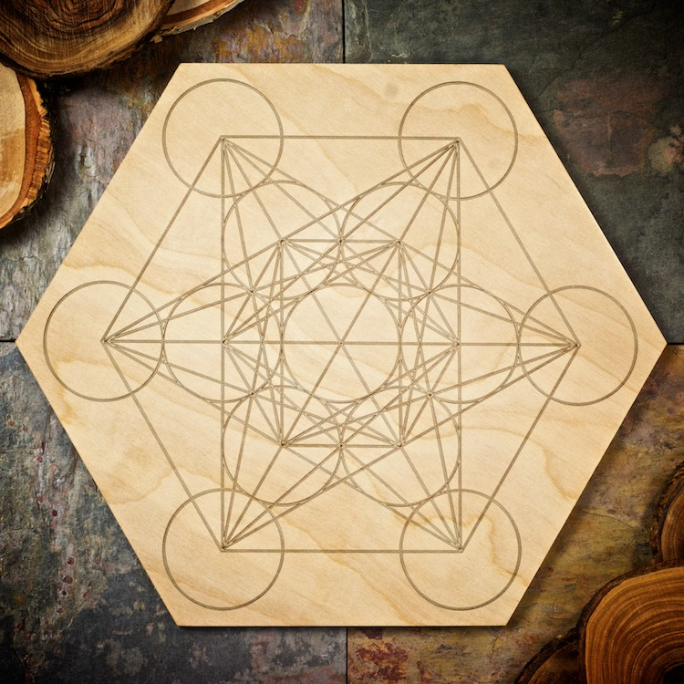 Metatrons Cube Large Grid Board by Healing Stones for You