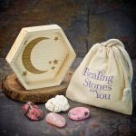 Attract Your Soulmate Crystal Intention Set with Wood Dish by Healing Stones for You