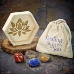 Sweet Dreams Crystal Intention Set with Wood Dish by Healing Stones for You