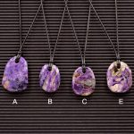 Charoite Double Sided Pendants by Healing Stones for You