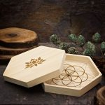 Seed of Life 6 inch Mini Travel Grid by Healing Stones for You