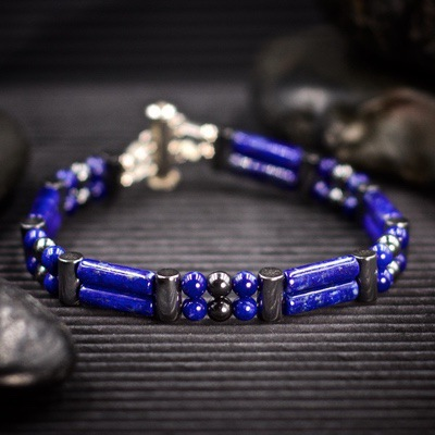 Lapis Lazuli Double Power Bracelet by Healing Stones for You
