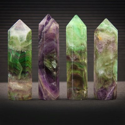 Large Fluorite Points from Healing Stones for You