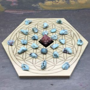 Larimar Crystal Sets for Mini Grids by Healing Stones for You