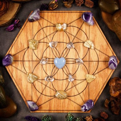Peace and Harmony Large Crystal Grid by Healing Stones for You