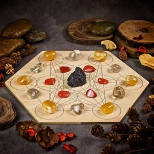 Protection and Grounding Large Crystal Grid Set by Healing Stones for You