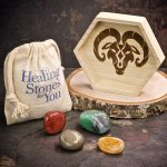 Aries Zodiac Crystals with Dish by Healing Stones for You