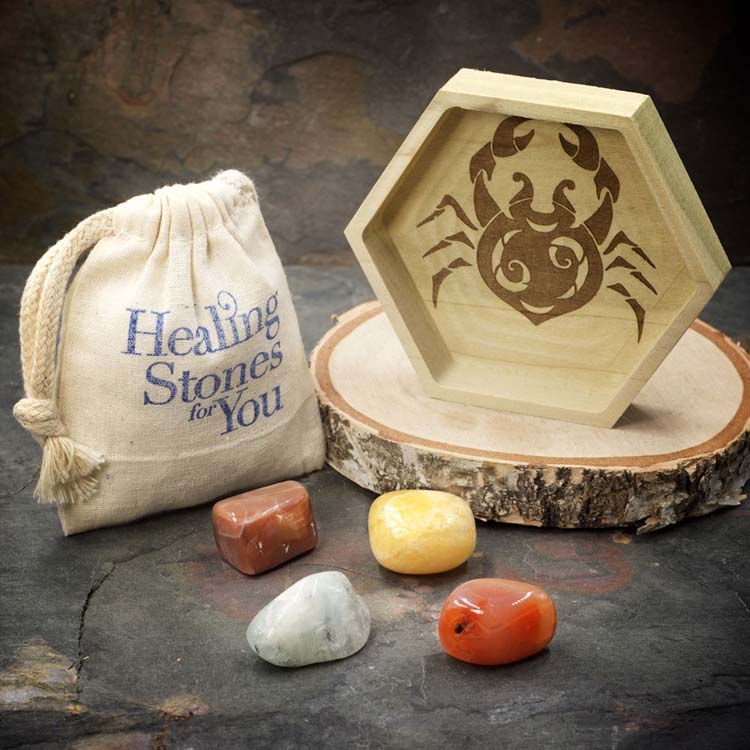 Cancer Zodiac Crystal Set by Healing Stones for You