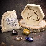 Sagittarius Zodiac Crystals with Dish by Healing Stones for You