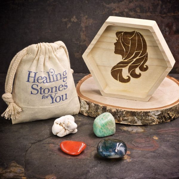 Virgo Zodiac Crystals with Dish by Healing Stones for You