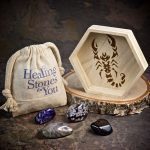 Scorpio Zodiac Crystals with Dish by Healing Stones for You