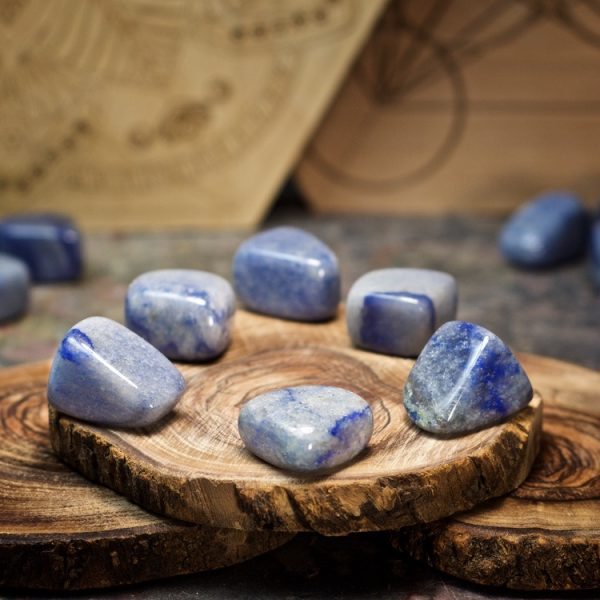 Blue Quartz Crystals for Grids from Healing Stones for You
