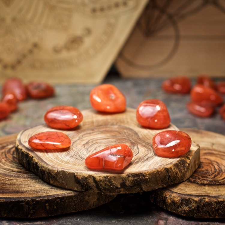 Carnelian Crystals for Grids from Healing Stones for You