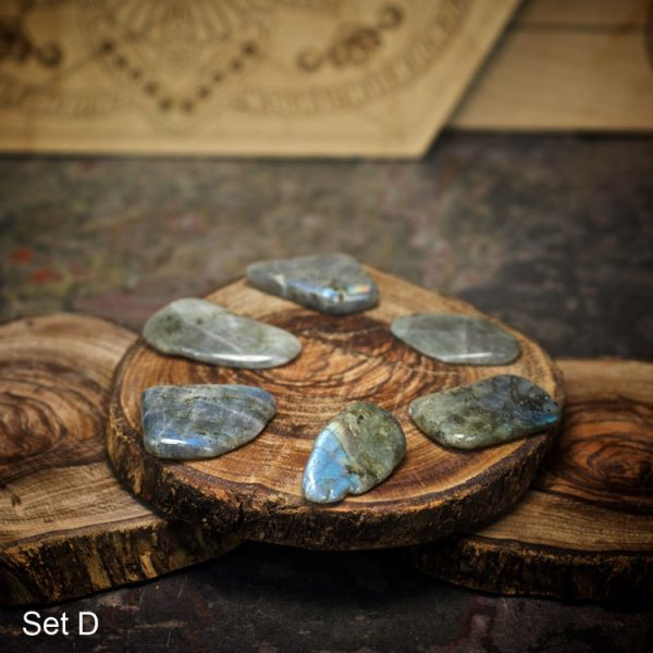 Set D - Labradorite Crystals for Grids from Healing Stones for You