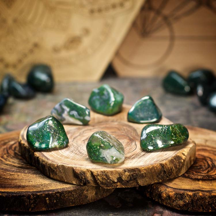 Moss Agate Crystals for Grids from Healing Stones for You