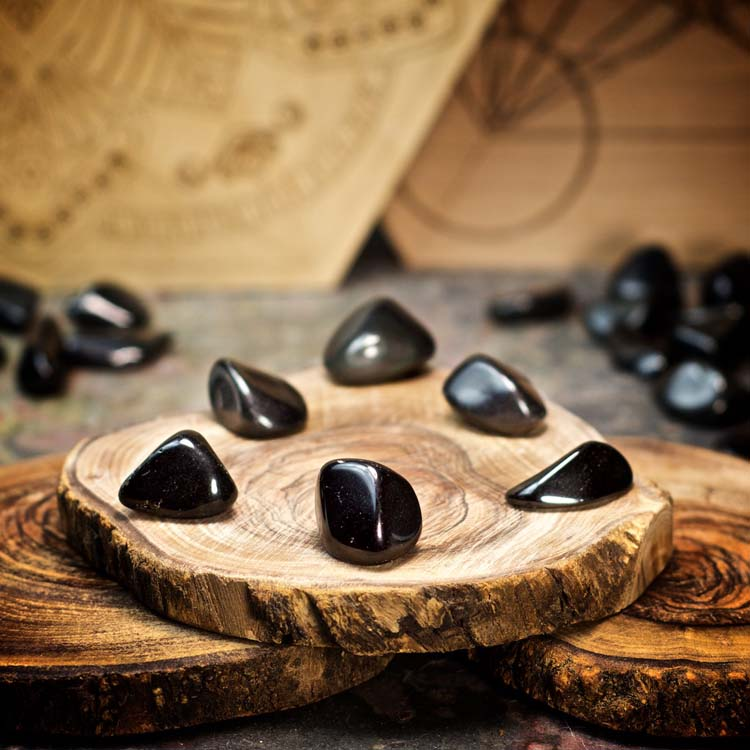 Obsidian Crystals for Grids from Healing Stones for You