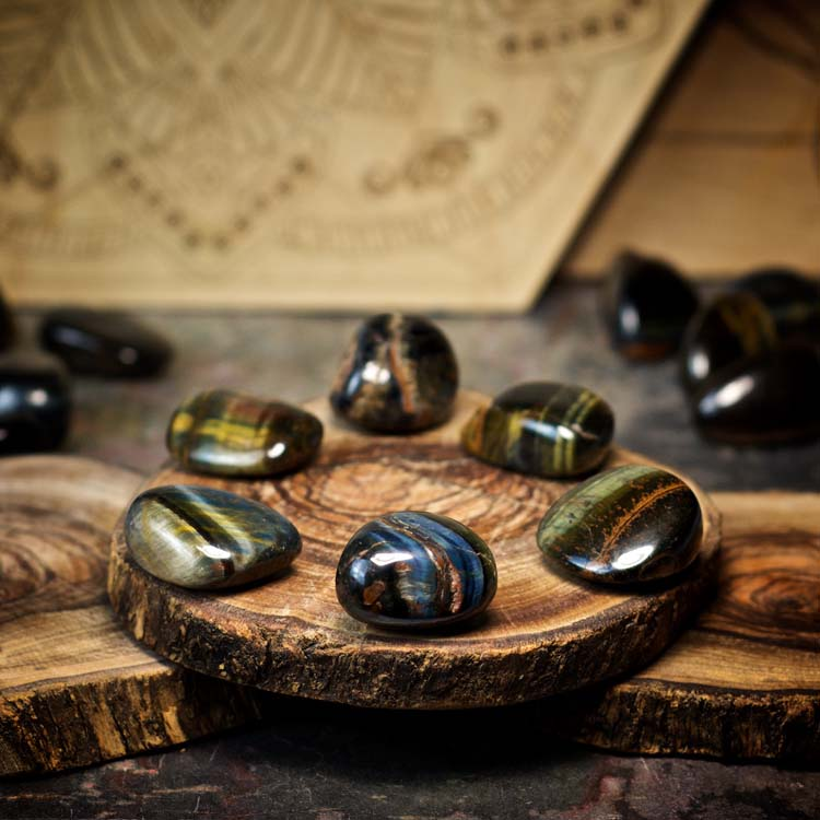 Blue Tiger Eye Crystals for Grids from Healing Stones for You