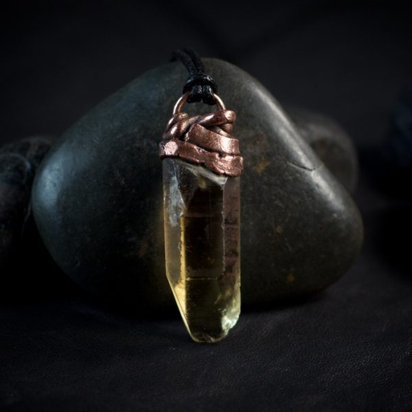Congo Citrine Electroformed Point Pendant from Healing Stones for You