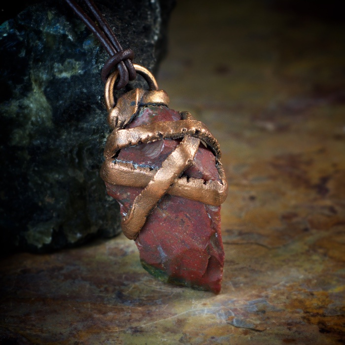 Fancy Jasper Electroformed Pendant by Healing Stones for You