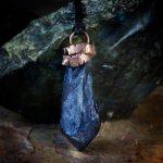 Blue Flame Aura Quartz Electroformed Pendant by Healing Stones for You