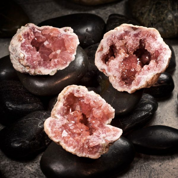 Pink Amethyst Clusters from Healing Stones for You