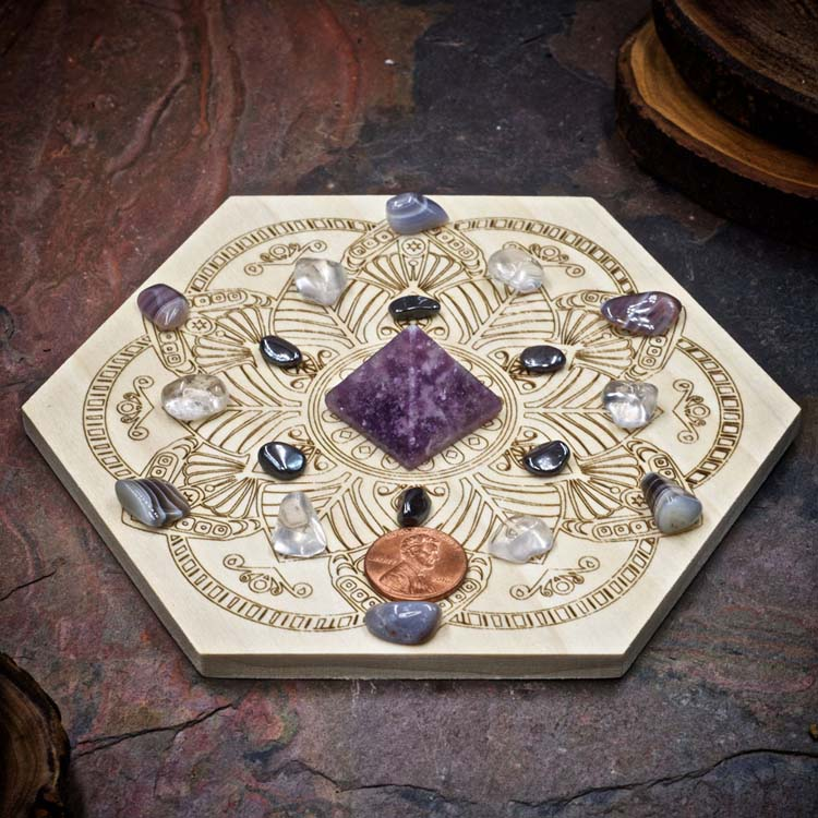 Break Addictions Mini Crystal Grid Set by Healing Stones for You