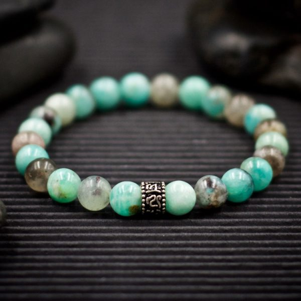 Amazonite and Sterling Silver Bracelet by Healing Stones for You